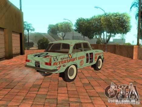 Versão de Rally Moskvich 412 para GTA San Andreas esquerda vista