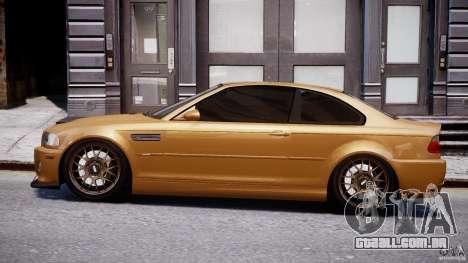 BMW M3 E46 Tuning 2001 v2.0 para GTA 4 esquerda vista