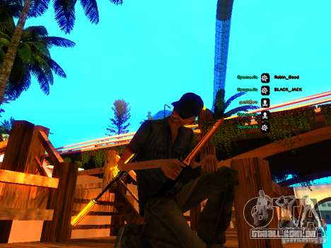 Black and Yellow weapons para GTA San Andreas segunda tela