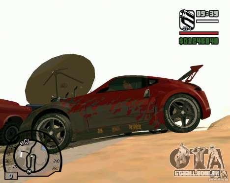 Nissan 370Z Undercover para GTA San Andreas traseira esquerda vista