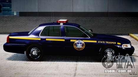 Ford Crown Victoria New York State Patrol [ELS] para GTA 4 vista inferior