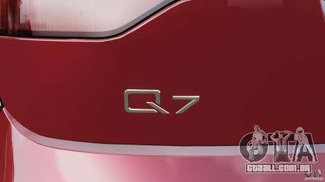 Audi Q7 V12 TDI v1.1 para GTA 4 interior