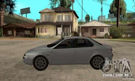 Alfa Romeo 156 2,5V6 2000 para GTA San Andreas esquerda vista