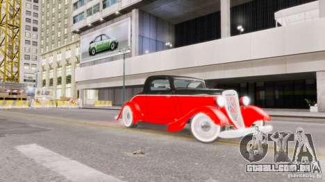 Ford Coupe 1934 para GTA 4 vista inferior