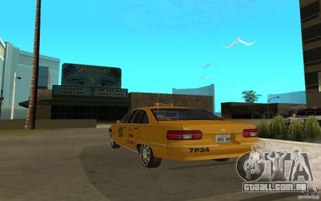 Chevrolet Caprice taxi para GTA San Andreas esquerda vista