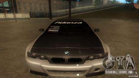 BMW E46 M3 Coupe 2004M para GTA San Andreas esquerda vista