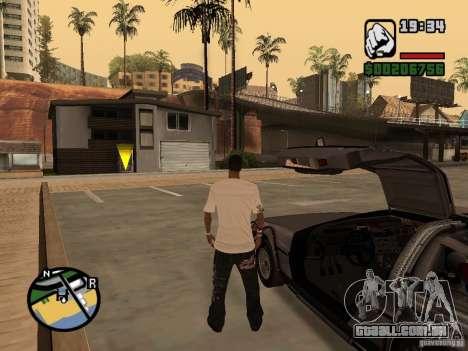 Crysis Delorean BTTF1 para GTA San Andreas vista direita