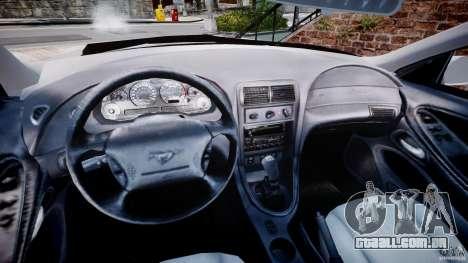 Ford Mustang SVT Cobra v1.0 para GTA 4 vista de volta