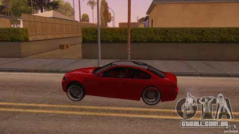 BMW M3 E92 Slammed para GTA San Andreas esquerda vista