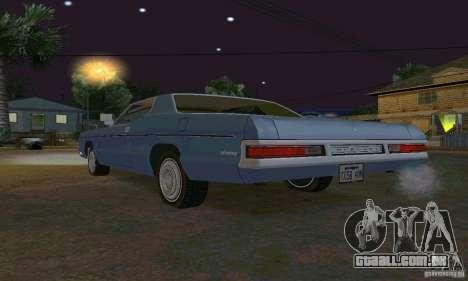 Mercury Monterey 1972 para GTA San Andreas vista interior