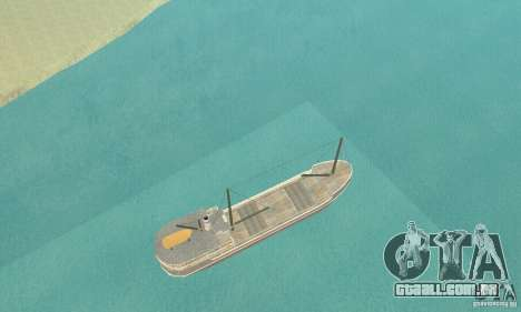 Steam Freighter para GTA San Andreas vista direita