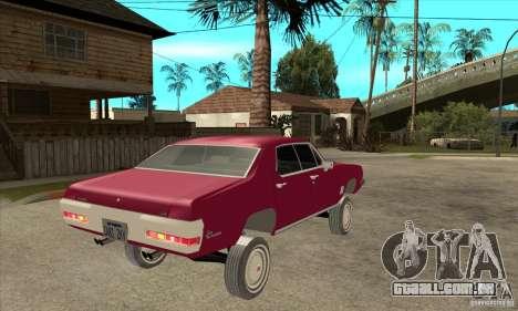 Pontiac LeMans para GTA San Andreas vista direita