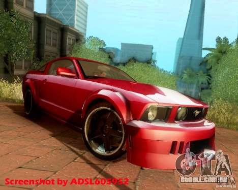 Ford Mustang GT 2005 Tunable para GTA San Andreas vista traseira