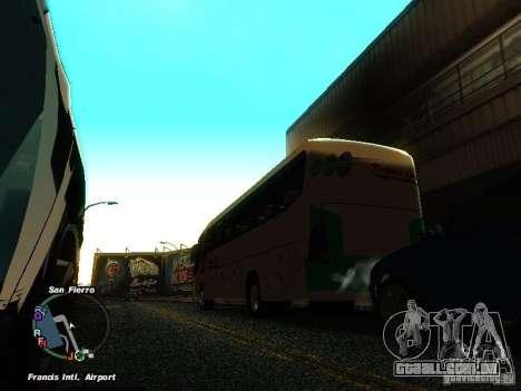Bus Kramat Djati para GTA San Andreas traseira esquerda vista