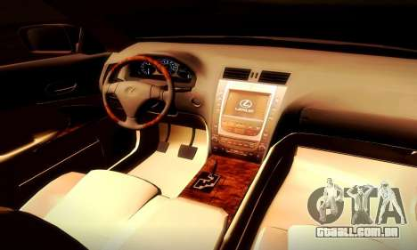 Lexus GS430 para GTA San Andreas vista traseira