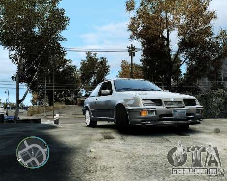 Ford Sierra RS500 Cosworth v1.0 para GTA 4 esquerda vista