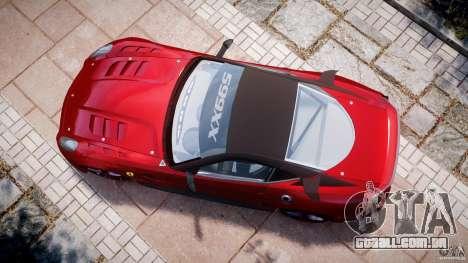 Ferrari 599 XX para GTA 4 vista direita