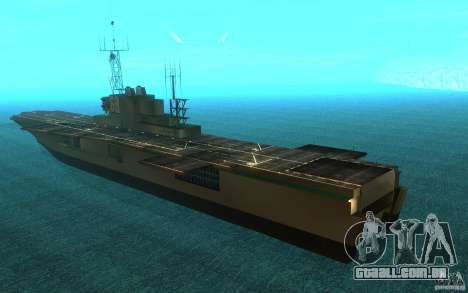 New Aircraft carrier para GTA San Andreas traseira esquerda vista