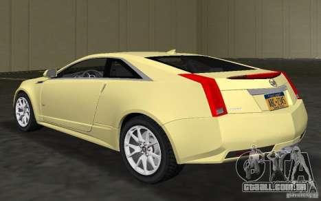 Cadillac CTS-V Coupe para GTA Vice City vista traseira esquerda