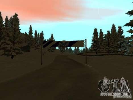 Trilha de inverno para GTA San Andreas segunda tela