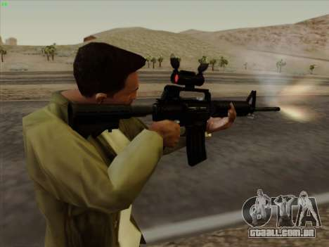 Colt Commando Aimpoint para GTA San Andreas sexta tela