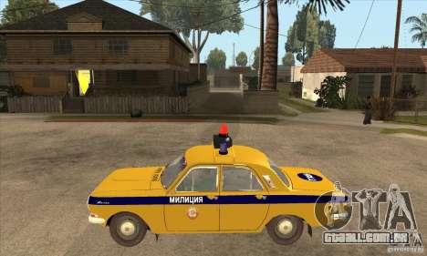GAZ Volga 2401 polícia para GTA San Andreas esquerda vista