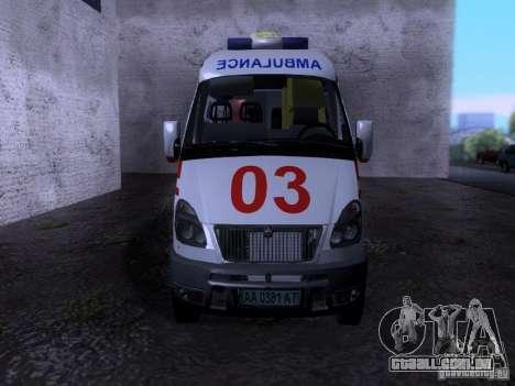 Ambulância de gazela 2705 para GTA San Andreas vista direita
