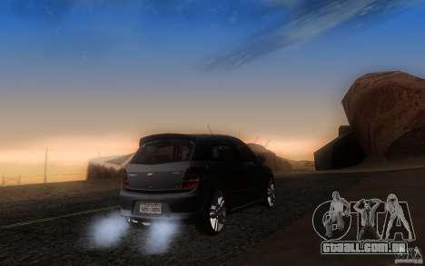 Chevrolet Agile 2012 para GTA San Andreas traseira esquerda vista