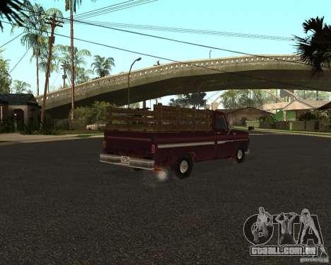 Chevrolet C 10 para GTA San Andreas esquerda vista