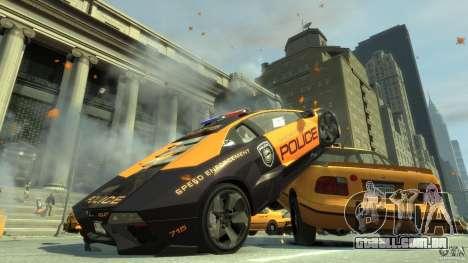 Lamborghini Reventon Police Hot Pursuit para GTA 4 traseira esquerda vista