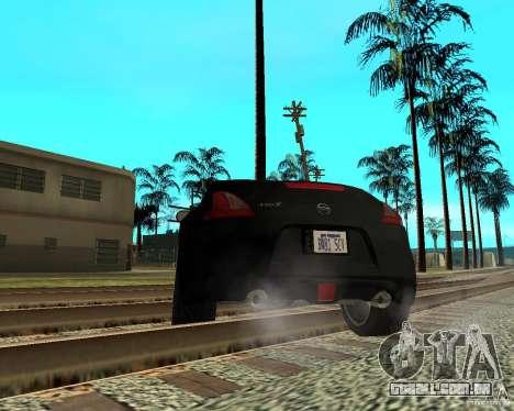 Nissan 370Z v2.0 para GTA San Andreas traseira esquerda vista