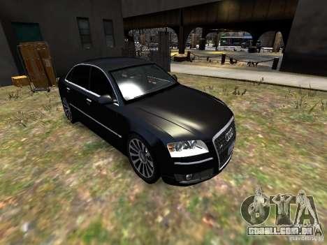 Audi A8L W12 para GTA 4 vista lateral