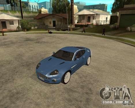 Aston Martin Vanquish para GTA San Andreas esquerda vista