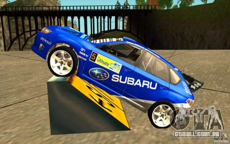 Novo vinil para Subaru Impreza WRX STi para GTA San Andreas esquerda vista