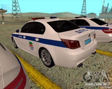 BMW M5 E60 DPS para GTA San Andreas traseira esquerda vista