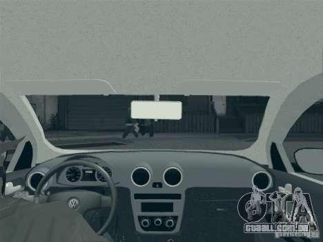 Volkswagen Saveiro 1.6 2009 para GTA San Andreas vista superior