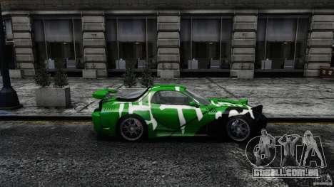 Mazda RX-7 Bushido para GTA 4 esquerda vista