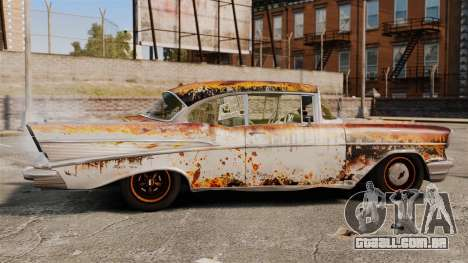 Chevrolet Bel Air 1957 Rusty para GTA 4 esquerda vista