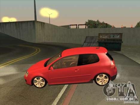 VW Golf Mk5 GTi - Stock: Tunable para GTA San Andreas esquerda vista