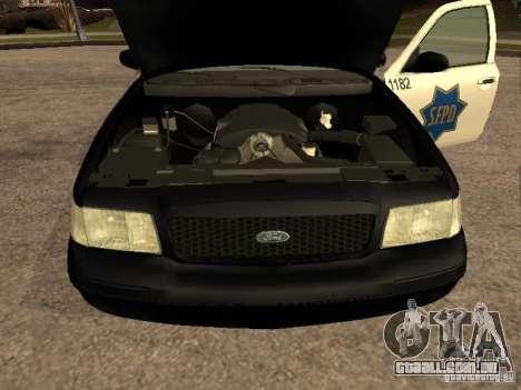 Ford Crown Victoria 2003 Police para GTA San Andreas vista direita