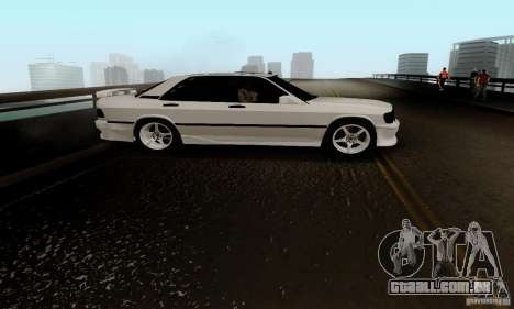 Mercedes-Benz 190E para GTA San Andreas vista interior