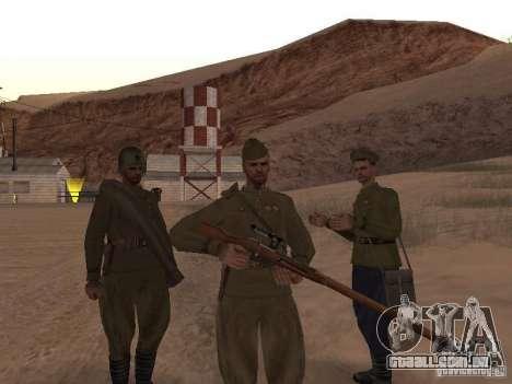 Pele de soldado soviético de II Guerra Mundial para GTA San Andreas