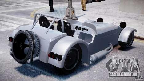 Caterham Super Seven para GTA 4 vista interior