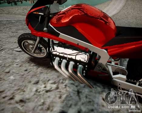Drag Bike para GTA 4 traseira esquerda vista