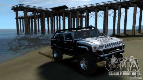 Hummer H2 4x4 OffRoad para GTA 4 traseira esquerda vista