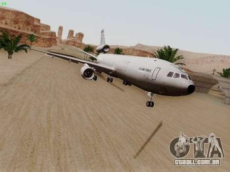 McDonell Douglas KC-10A Extender para GTA San Andreas esquerda vista