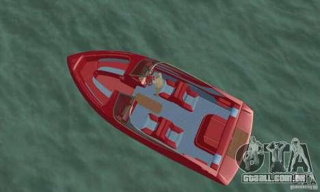 Speedboat para GTA San Andreas traseira esquerda vista