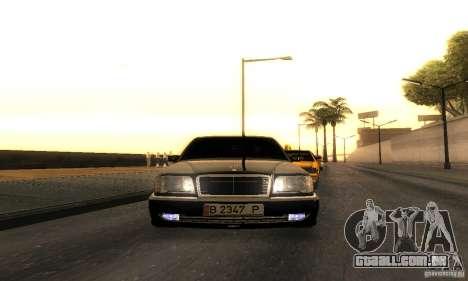 Mercedes-Benz W124 E420 AMG para GTA San Andreas vista traseira