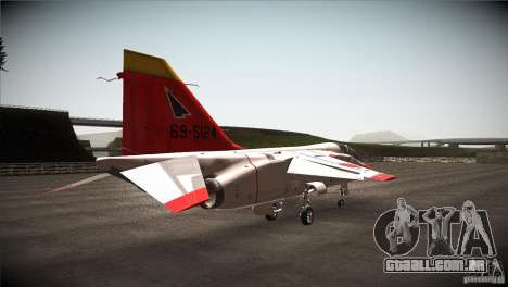 Mitsubishi T-2 para GTA San Andreas vista direita