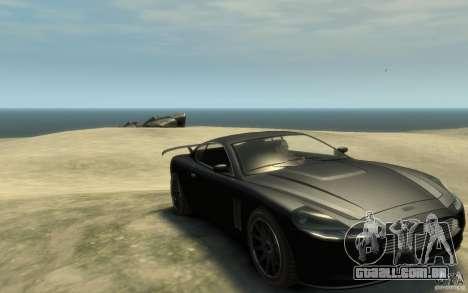 Aston Martin DB9 Super GTR beta para GTA 4 vista de volta